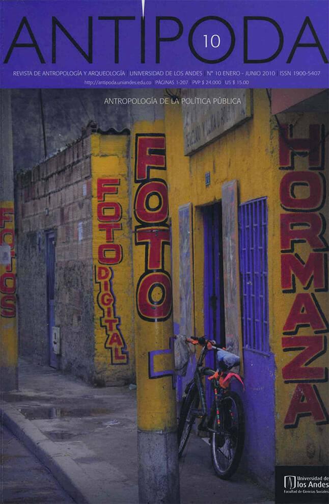 Revista Antipoda 10 de la Universidad de los Andes