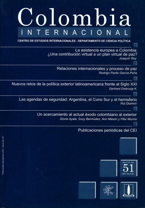 Revista Colombia Internacional 51 de la Universidad de los Andes