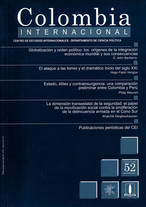 Revista Colombia Internacional 52 de la Universidad de los Andes