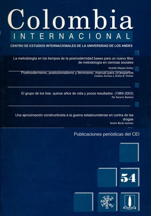 Revista Colombia Internacional 54 de la Universidad de los Andes