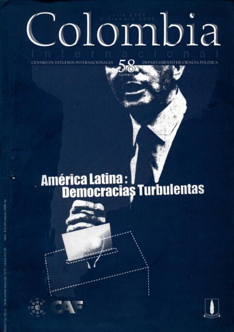 Revista Colombia Internacional 58 de la Universidad de los Andes