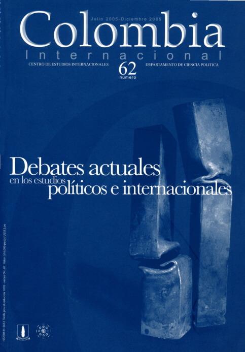 Revista Colombia Internacional 62 de la Universidad de los Andes