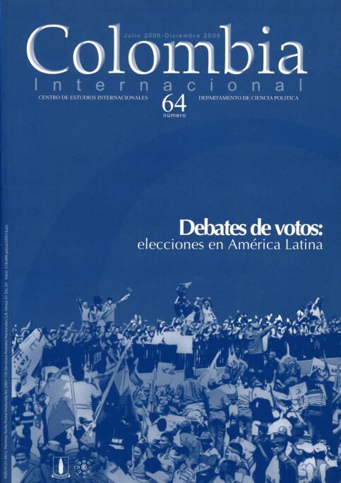 Revista Colombia Internacional 64 de la Universidad de los Andes