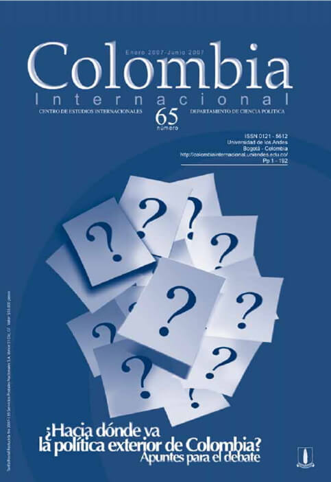 Revista Colombia Internacional 65 de la Universidad de los Andes