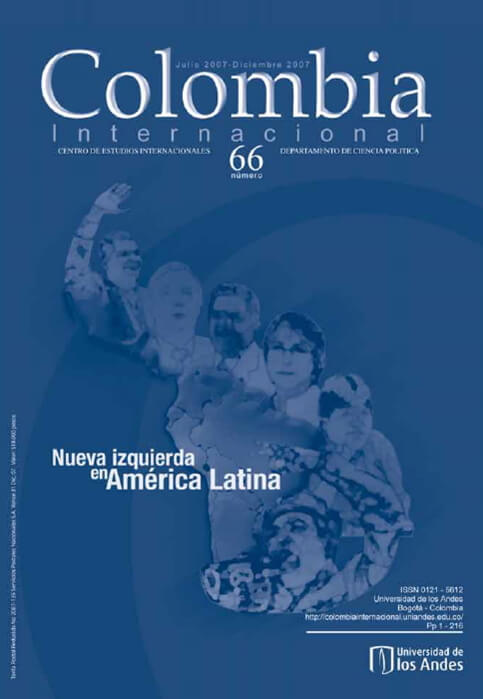 Revista Colombia Internacional 66 de la Universidad de los Andes