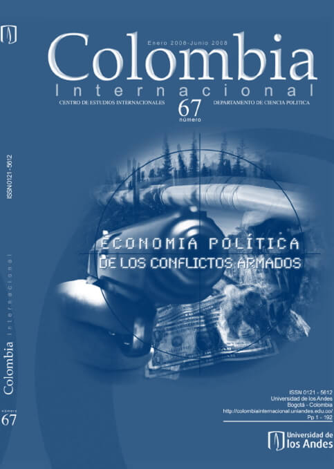 Revista Colombia Internacional 67 de la Universidad de los Andes