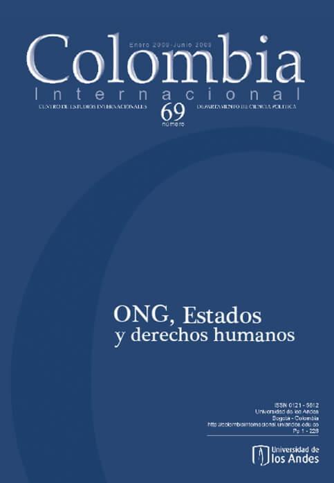 Revista Colombia Internacional 69 de la Universidad de los Andes