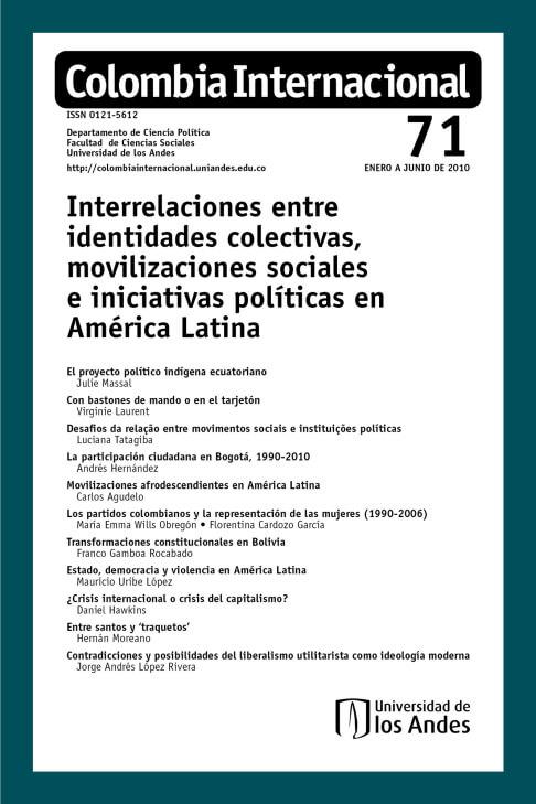 Revista Colombia Internacional 71 de la Universidad de los Andes
