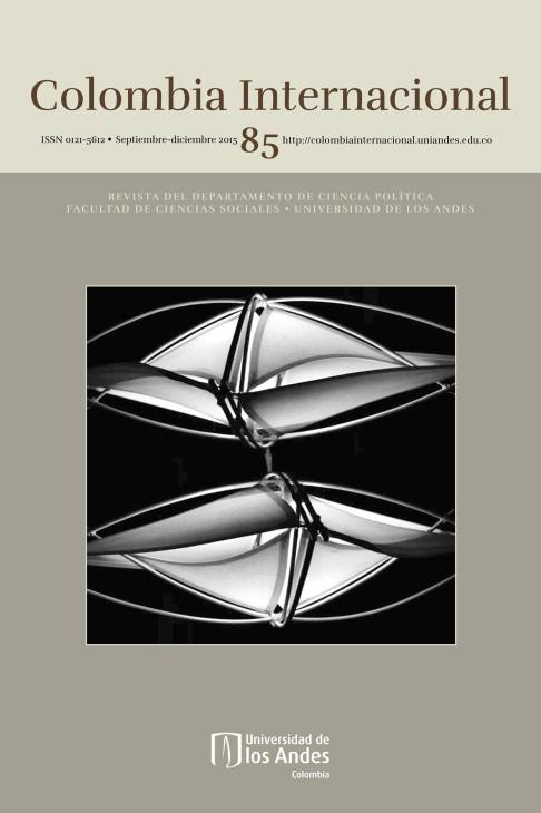 Revista Colombia Internacional 85 de la Universidad de los Andes
