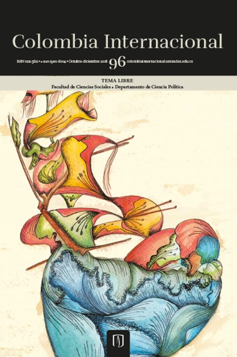 Revista Colombia Internacional 96 de la Universidad de los Andes