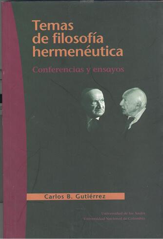 Publicación Temas de filosofía hermenéutica