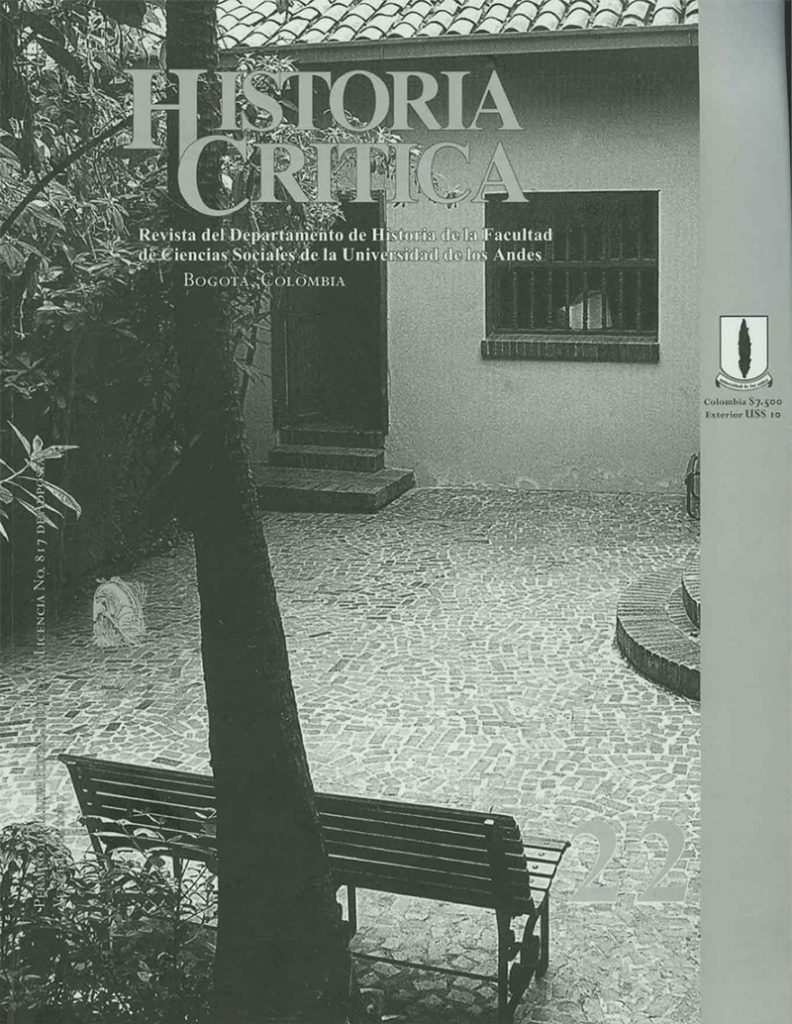 Histcrit.2001.issue 22.cover