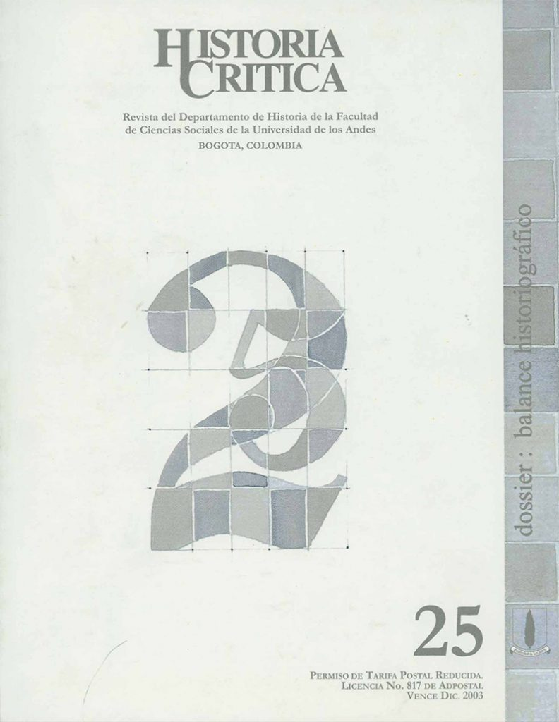 Histcrit.2003.issue 25.cover