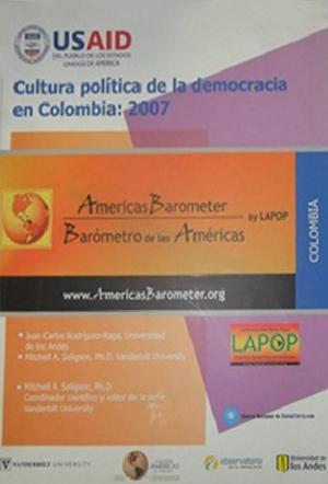 Cultura política de democracia en Colombia 2007