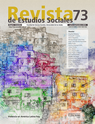 Revista de Estudios Sociales 73 de la Universidad de los Andes