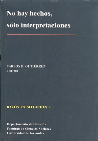 Publicación No hay hechos, solo interpretaciones