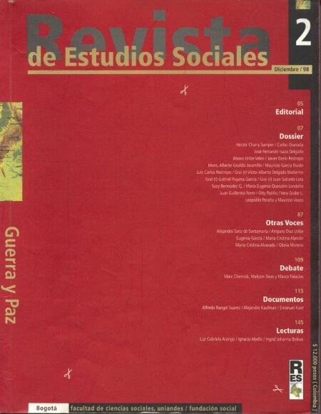 Revista de Estudios Sociales 2 de la Universidad de los Andes
