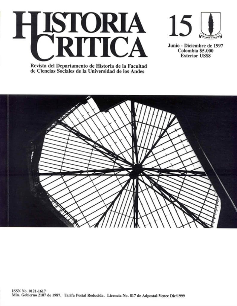 Histcrit.1997.issue 15.cover
