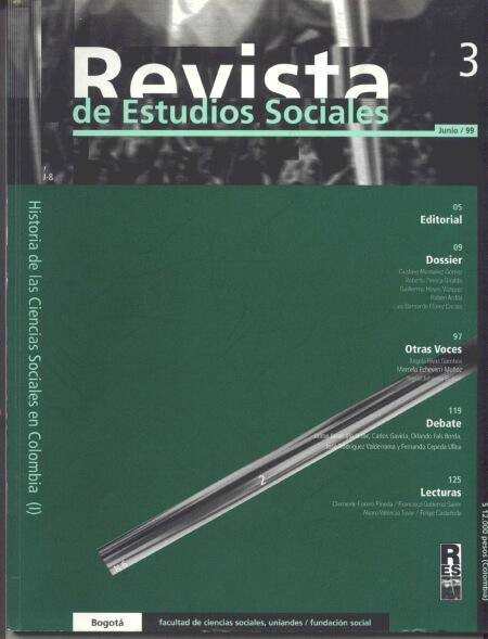 Revista de Estudios Sociales 3 de la Universidad de los Andes