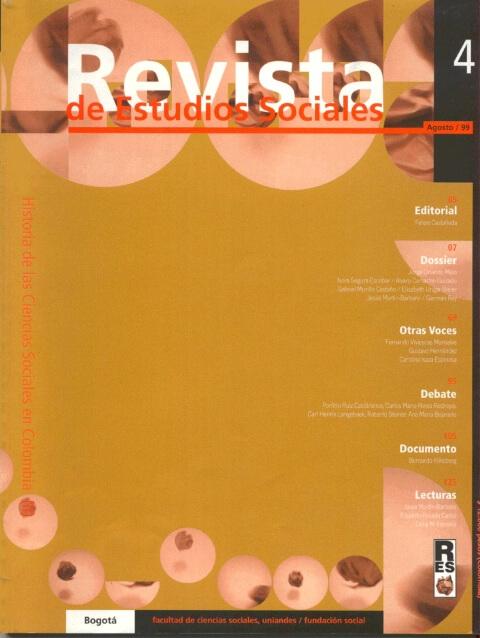 Revista de Estudios Sociales 4 de la Universidad de los Andes