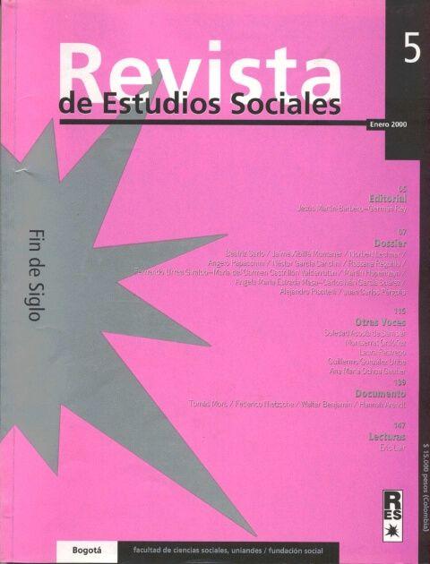 Revista de Estudios Sociales 5 de la Universidad de los Andes