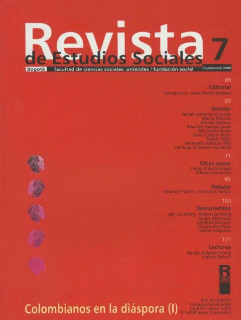 Revista de Estudios Sociales 7 de la Universidad de los Andes