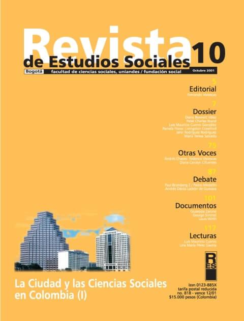 Revista de Estudios Sociales 10 de la Universidad de los Andes