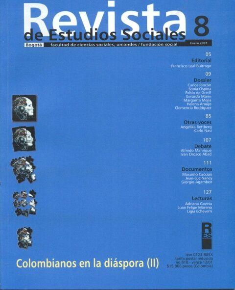 Revista de Estudios Sociales 8 de la Universidad de los Andes
