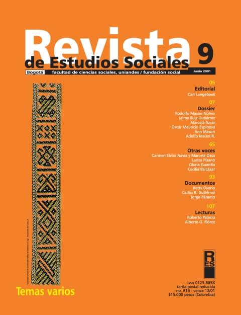 Revista de Estudios Sociales 9 de la Universidad de los Andes