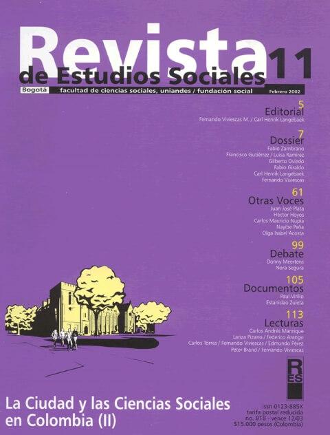 Revista de Estudios Sociales 11 de la Universidad de los Andes