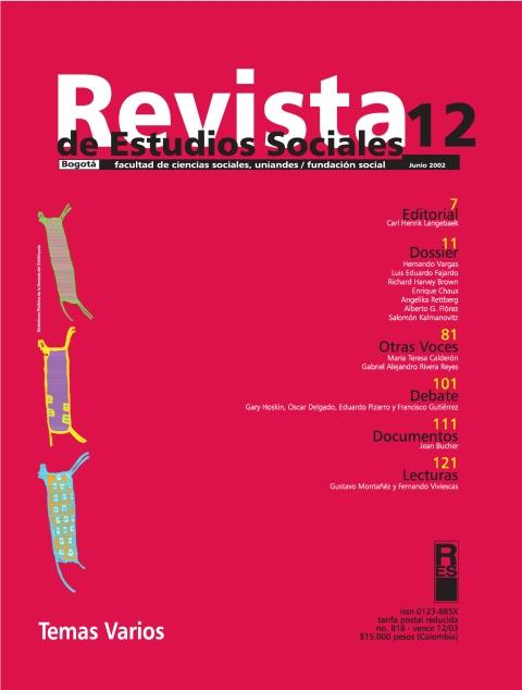 Revista de Estudios Sociales 12 de la Universidad de los Andes