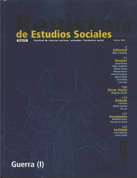Revista de Estudios Sociales 14 de la Universidad de los Andes