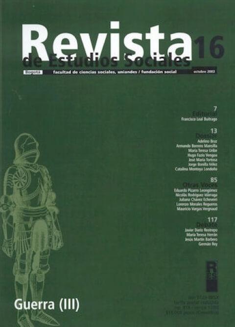 Revista de Estudios Sociales 16 de la Universidad de los Andes