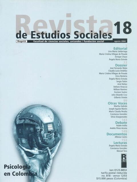 Revista de Estudios Sociales 18 de la Universidad de los Andes