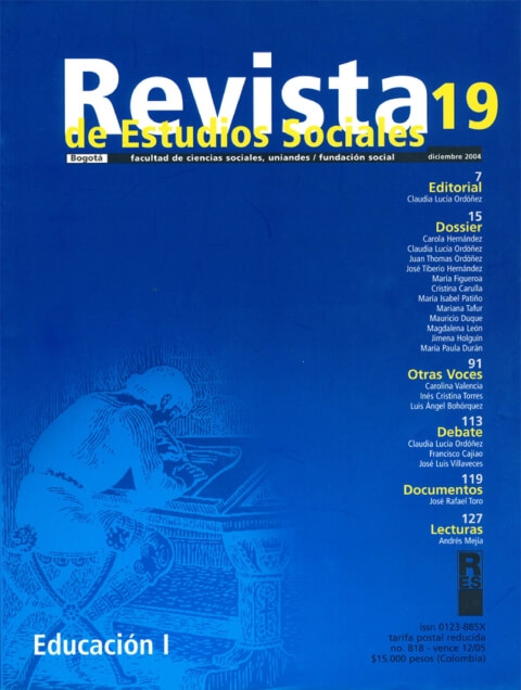 Revista de Estudios Sociales 19 de la Universidad de los Andes