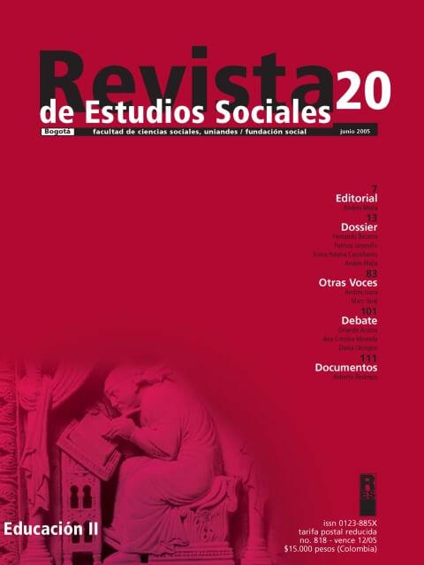 Revista de Estudios Sociales 20 de la Universidad de los Andes
