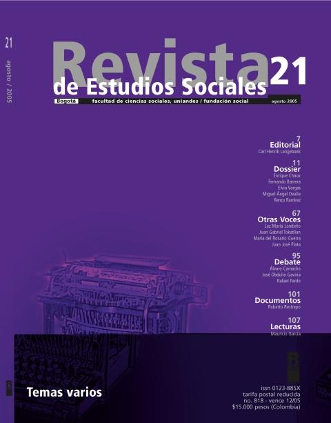 Revista de Estudios Sociales 21 de la Universidad de los Andes