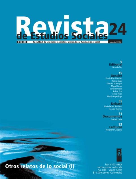 Revista de Estudios Sociales 24 de la Universidad de los Andes