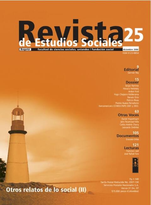 Revista de Estudios Sociales 25 de la Universidad de los Andes