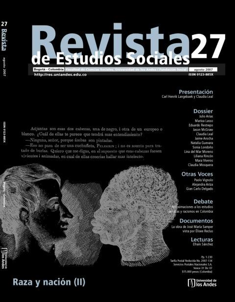 Revista de Estudios Sociales 27 de la Universidad de los Andes