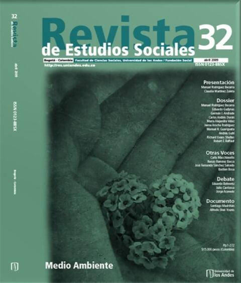 Revista de Estudios Sociales 32 de la Universidad de los Andes