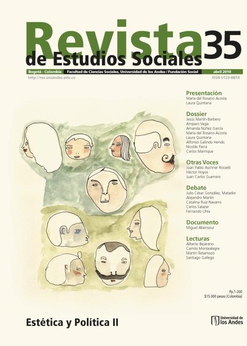 Revista de Estudios Sociales 35 de la Universidad de los Andes