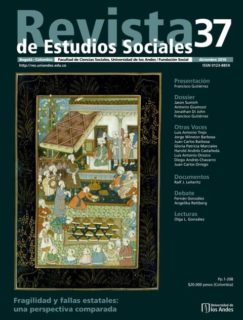 Revista de Estudios Sociales 37 de la Universidad de los Andes