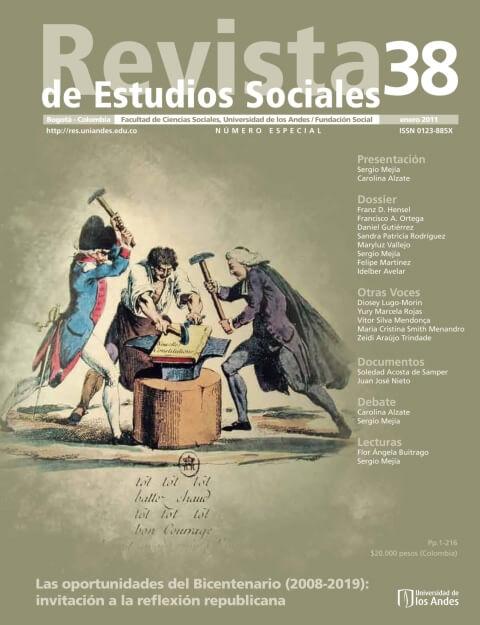 Revista de Estudios Sociales 38 de la Universidad de los Andes