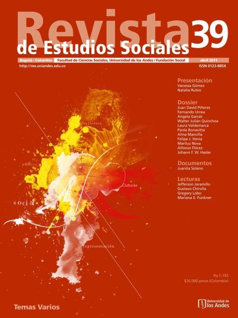 Revista de Estudios Sociales 39 de la Universidad de los Andes