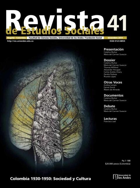 Revista de Estudios Sociales 41 de la Universidad de los Andes