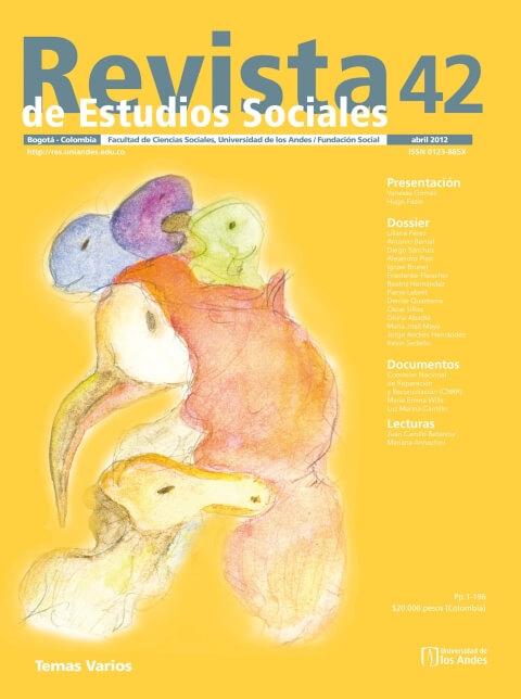 Revista de Estudios Sociales 42 de la Universidad de los Andes