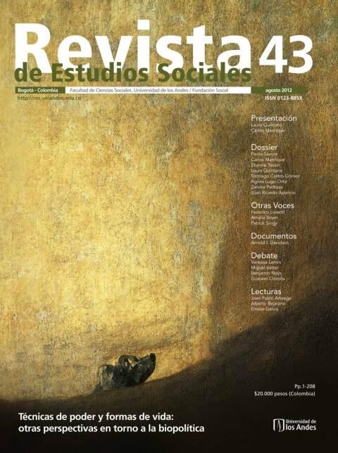 Revista de Estudios Sociales 43 de la Universidad de los Andes