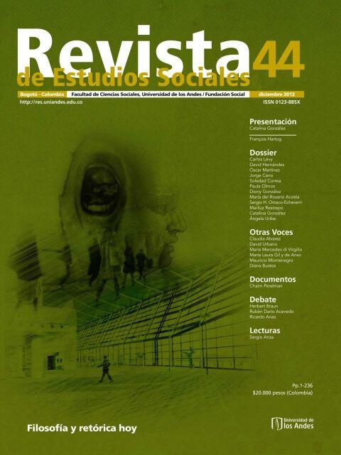 Revista de Estudios Sociales 44 de la Universidad de los Andes