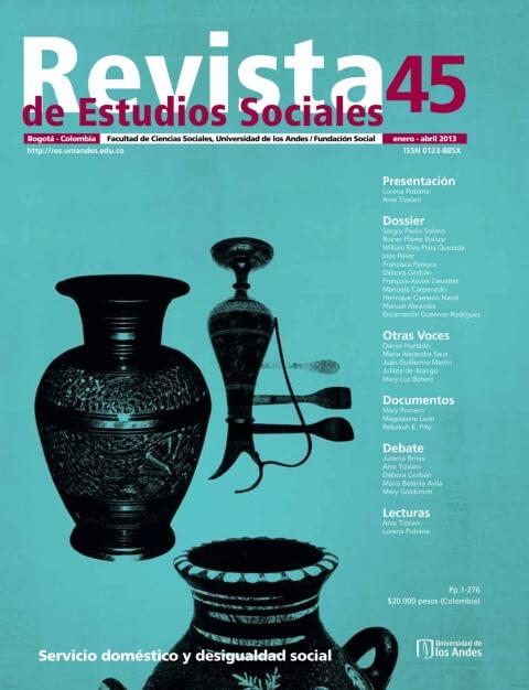 Revista de Estudios Sociales 45 de la Universidad de los Andes